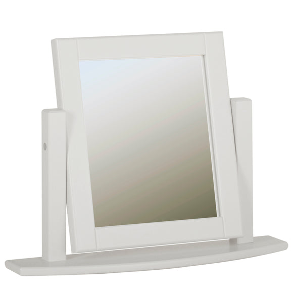 Eton White Single Dressing Table Mirror