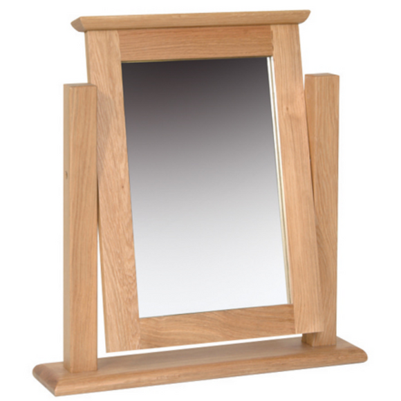 Hampshire Oak Single Dressing Table Mirror