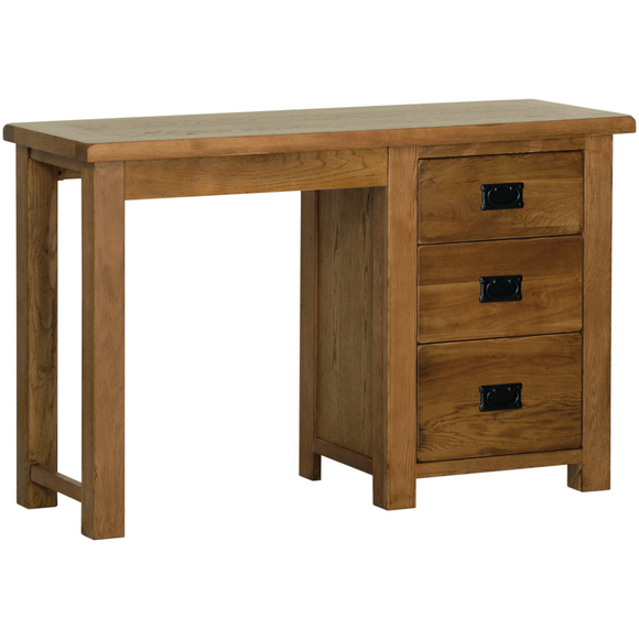 Petersfield Oak Single Pedestal Dressing Table