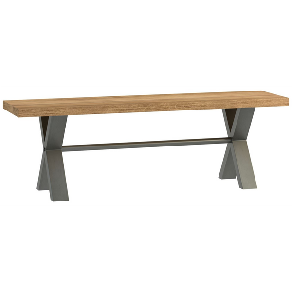 Foundry Oak Small Bench