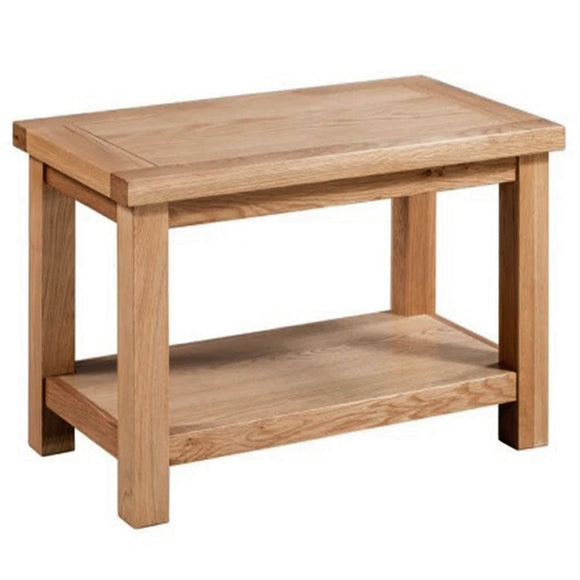 Oxford Oak Small Coffee Table with Shelf