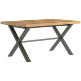 Foundry Oak Small Table with 2 Chairs & Small Bench Set