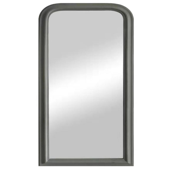 Small Grey Curved Top Mirror