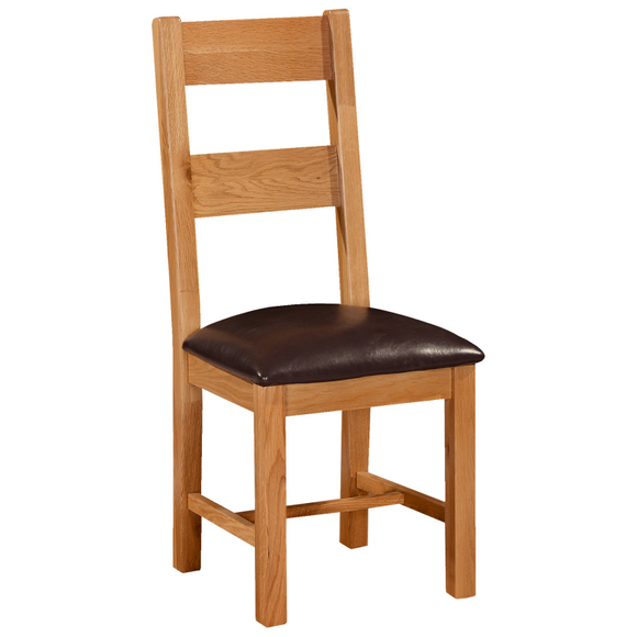 Waxed Oak Ladder Back Chair
