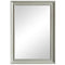 White Beaded Rectangular Mirror