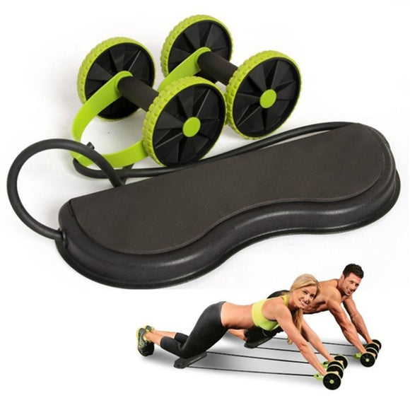 Abdominal Waist Slimming Trainer Exerciser Roller Core Double AB Wheel Fitness Equipment