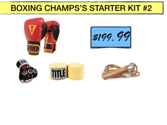 SIMPLEMITTS BOXING CHAMPS'S STARTER KIT #2
