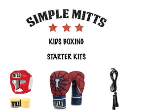 """RED WEB"" KIDS BOXING STARTER KIT-SIMPLEMITTS.COM"