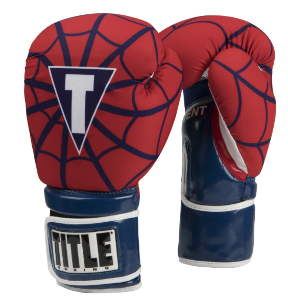 TITLE INFUSED FOAM SPIDER WEB BOXING GLOVES-SIMPLEMITTS.COM