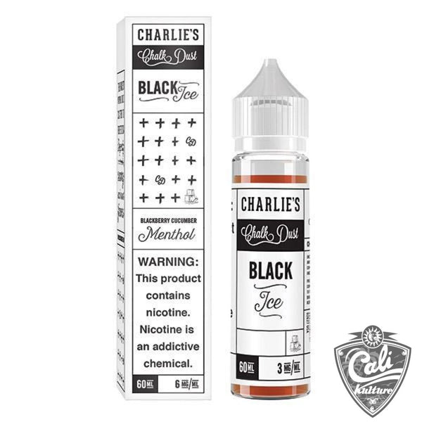Charlies Chalk Dust - Black Ice - Menthol- 60ml