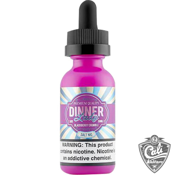 Dinner Lady Salt Nic E-Liquid 30ml -Blackberry Crumble