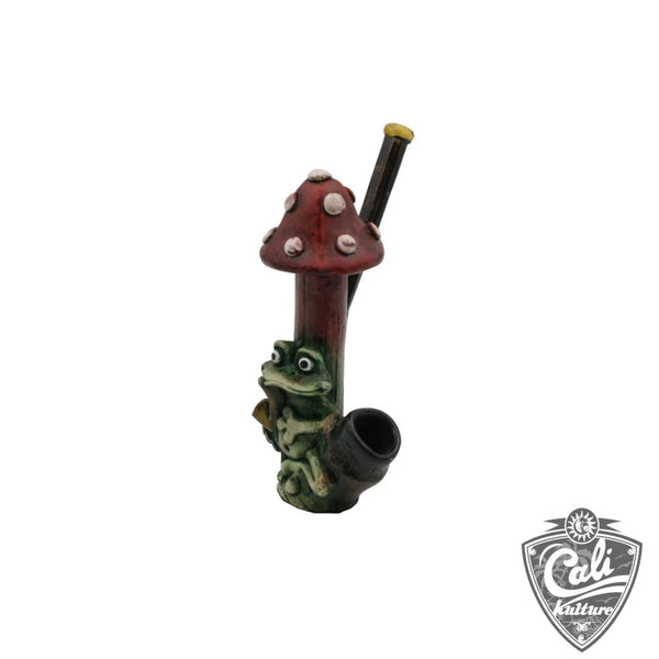 Frog & Toad Stool Resin Pipe
