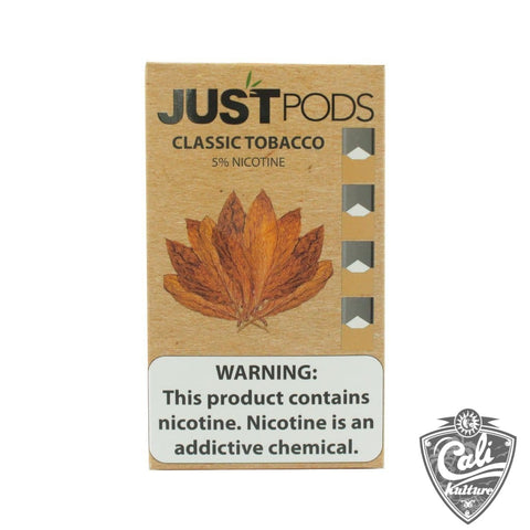 Just Pods 4pk, 50mg - Classic Tobacco