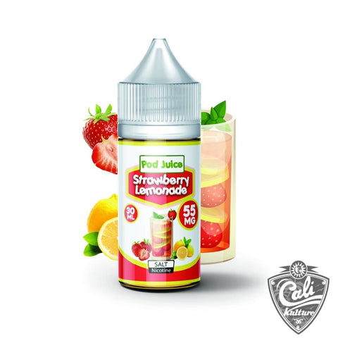 Pod Juice Salt E- Liquid 30ml - Strawberry Lemonade