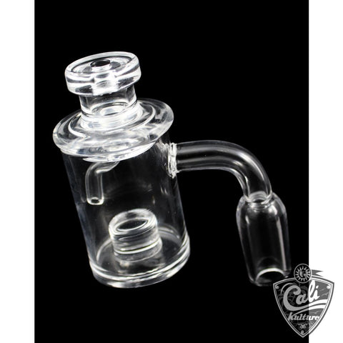 Quartz Reactor Banger 90deg with Directional Carb Cap