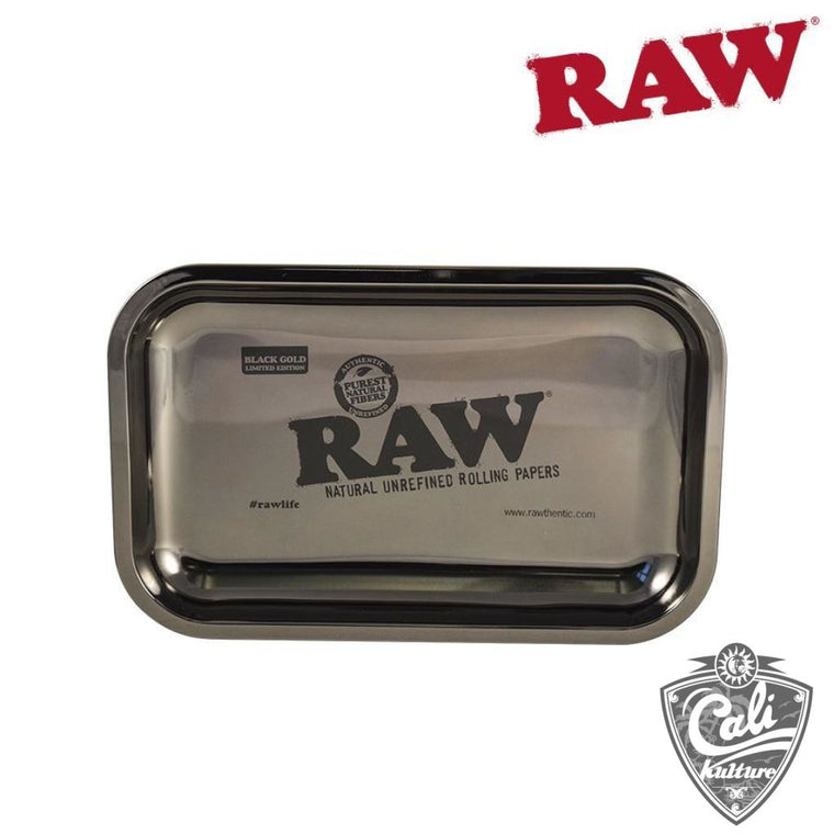 RAW Black Gold Rolling Tray Medium