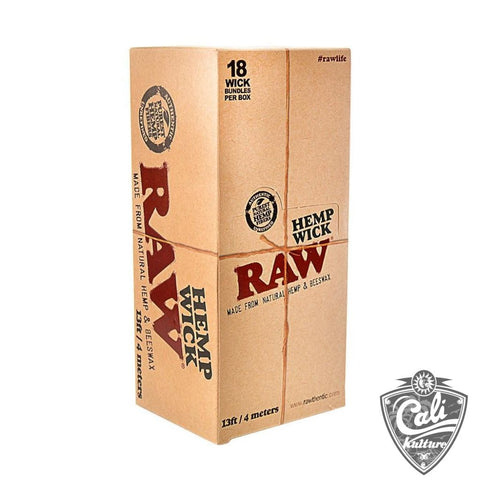 Raw Hempwick 18 per Box