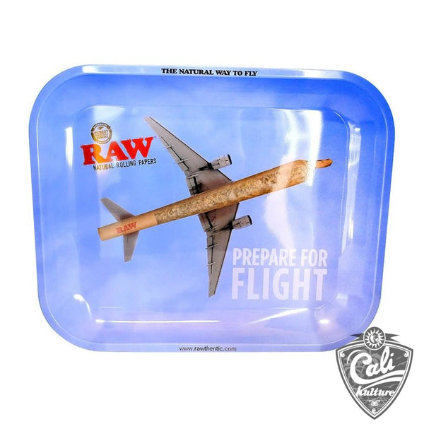 Raw Large Metal Rolling Tray 13'' x 11'' - Flying