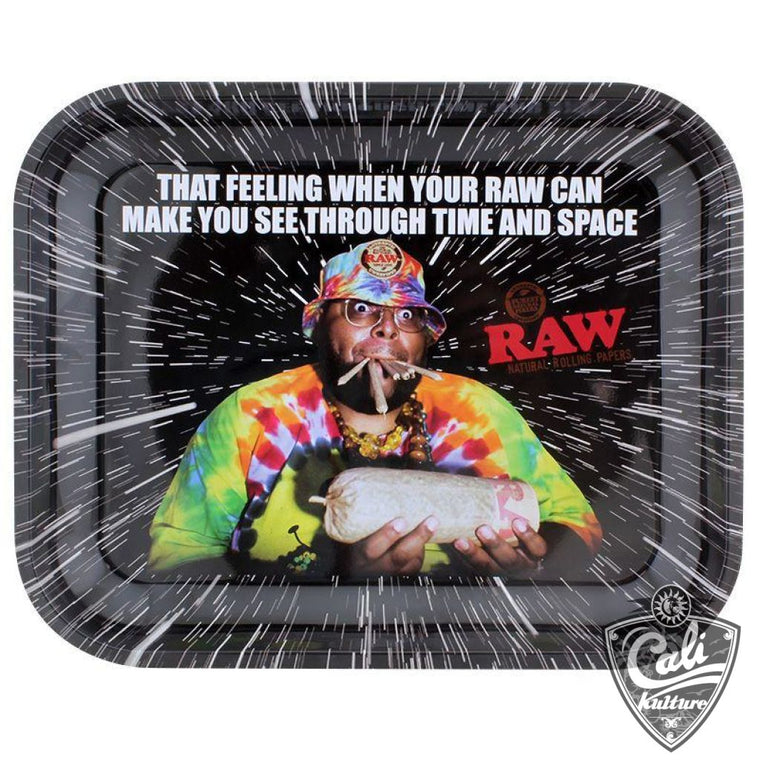 Raw Large Metal Rolling Tray 13'' x 11'' - Oops