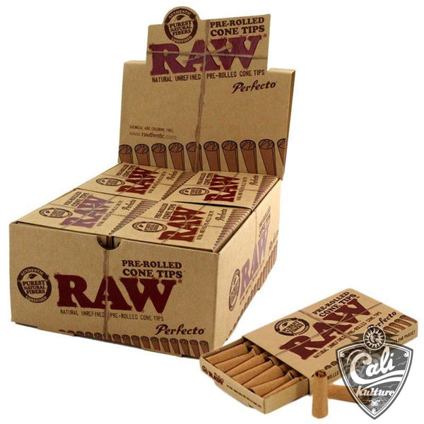 Raw Pre-Rolled Cone Tips Perfecto 100ct