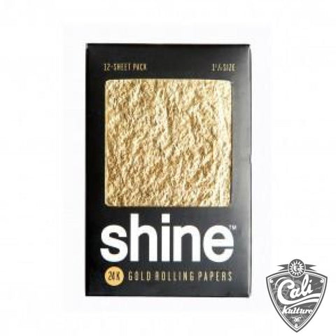 Shine 24k Gold 1 1/4 Rolling Paper 12 Sheet Pack