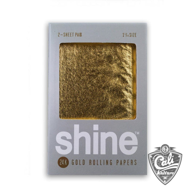 Shine 24k Gold 1 1/4 Rolling Paper 2-Sheet Pack
