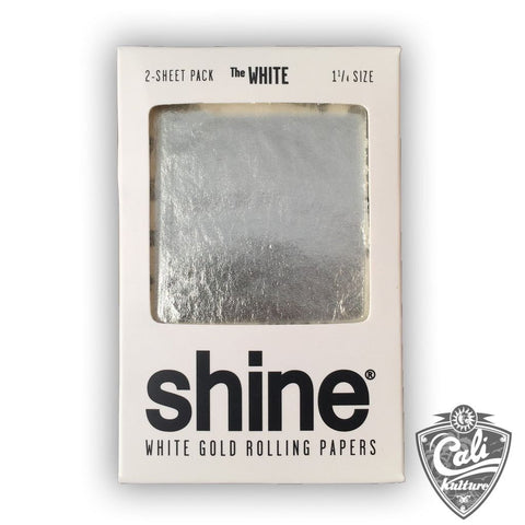 Shine 24k White Gold 1 1/4 Rolling Paper 2-Sheet Pack