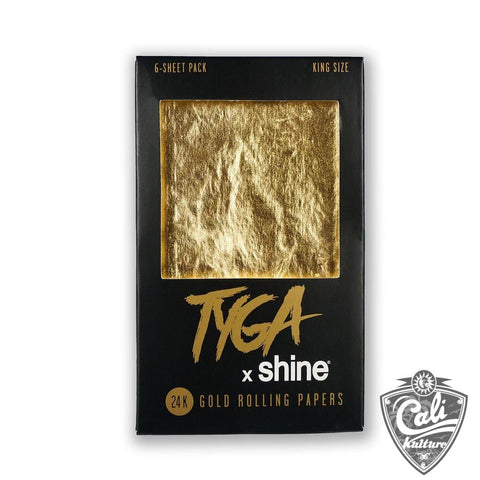 Tyga X Shine 24k King Size Rolling Papers 6-Sheet Pack