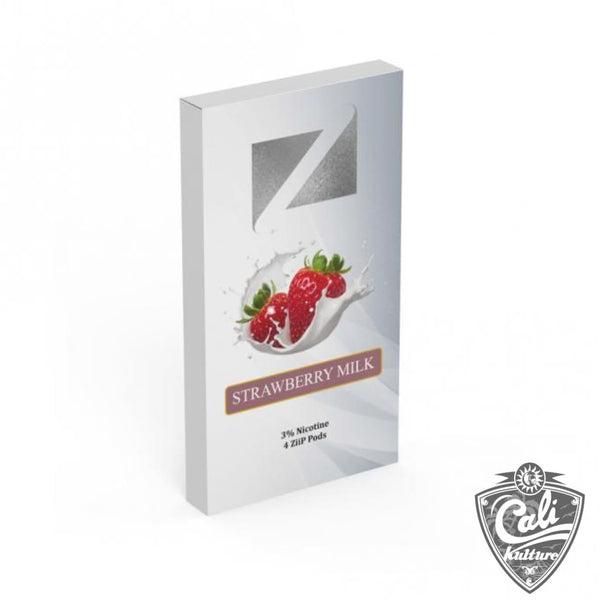 Ziip Pods 4pk - Strawberry Milk - 50mg