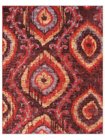Dover - Brown Red D-04 Area Rug - Jordans Flooring