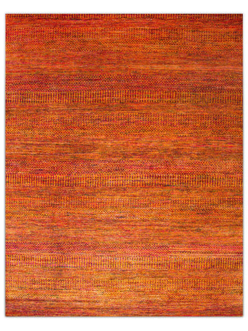 Silk Rhythm - Orange/Red Area Rug - Jordans Flooring