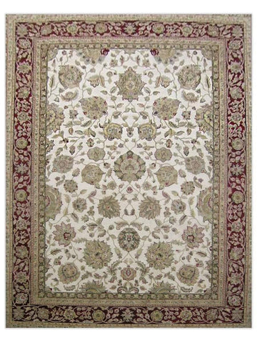 Taj Mahal - Cream/Red GS151 Area Rug - Jordans Flooring
