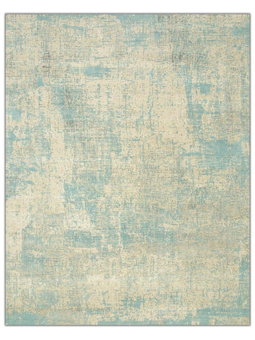Norwood - LRB1502 White/Aqua Area Rug - Jordans Flooring