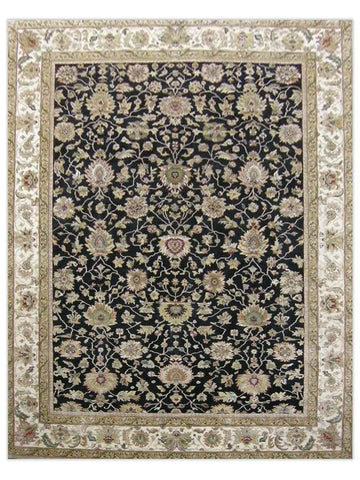 Taj Mahal - Black/Cream GS158 Area Rug - Jordans Flooring