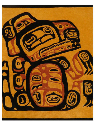 First Nations - Gold/Multi Bear Area Rug - Jordans Flooring