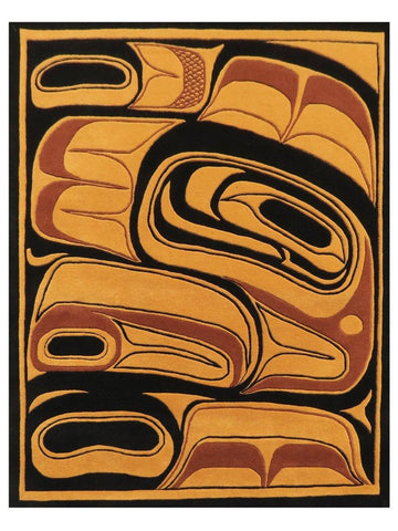 First Nations - Gold/Multi Bentwood, Area Rug - Jordans Floor Covering