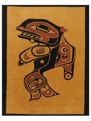 First Nations - Gold/Multi Orca Area Rug - Jordans Flooring