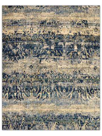 Antiquity - Blue 111L Machine Made Area Rug - Jordans Flooring