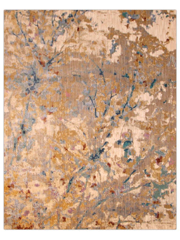 Antiquity - Blue/Gold 112X Machine Made Area Rug - Jordans Flooring