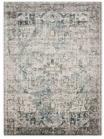 Antiquity - Blue Slate 1802U Machine Made Area Rug - Jordans Flooring