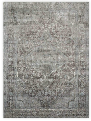 Antiquity - Stone Blue 536E Machine Made Area Rug - Jordans Flooring