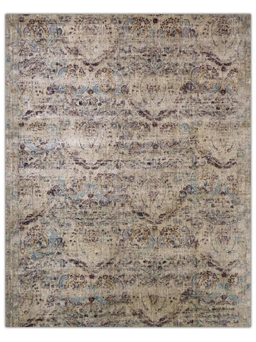 Antiquity - Taupe/Plum 164X Machine Made Area Rug - Jordans Flooring