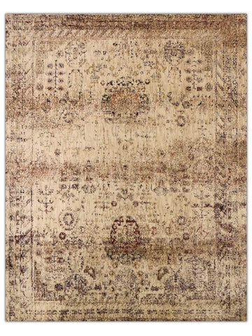 Antiquity - Taupe/Wine 70U Machine Made Area Rug - Jordans Flooring
