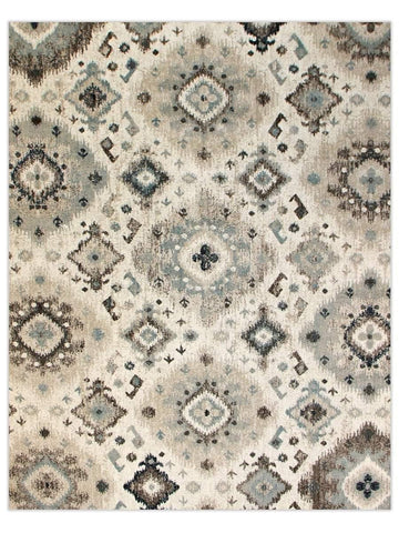 Decor - Ice Blue 02L Machine Made Area Rug - Jordans Flooring