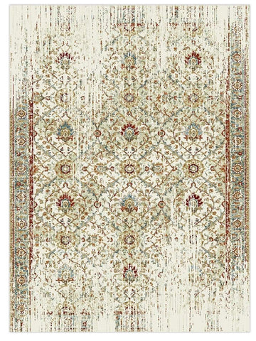 Decor - Ivory Multi 8122W Machine Made Area Rug - Jordans Flooring