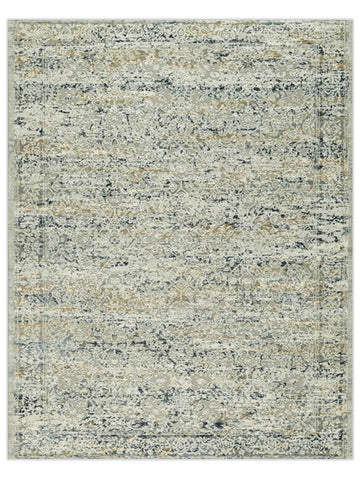 Desert Dreams - Taupe Blue Machine Made Area Rug - Jordans Flooring