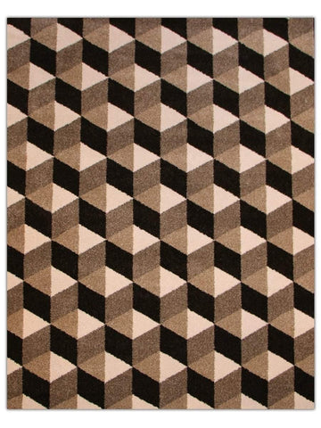 Opel - Taupe/Grey 430K Machine Made Area Rug - Jordans Flooring