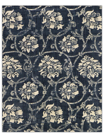 Reflections - Navy 8022Q, Machine Made Area Rug - Jordans Floor Covering