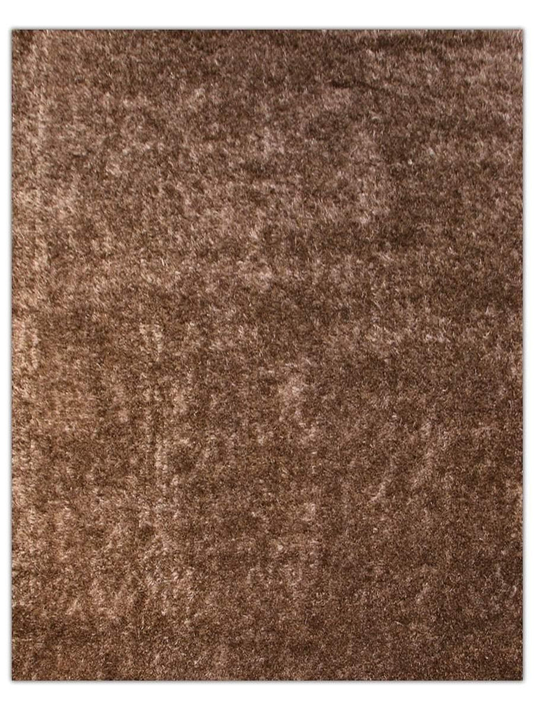 Silky Shag - Brown 520D, Machine Made Area Rug - Jordans Floor Covering
