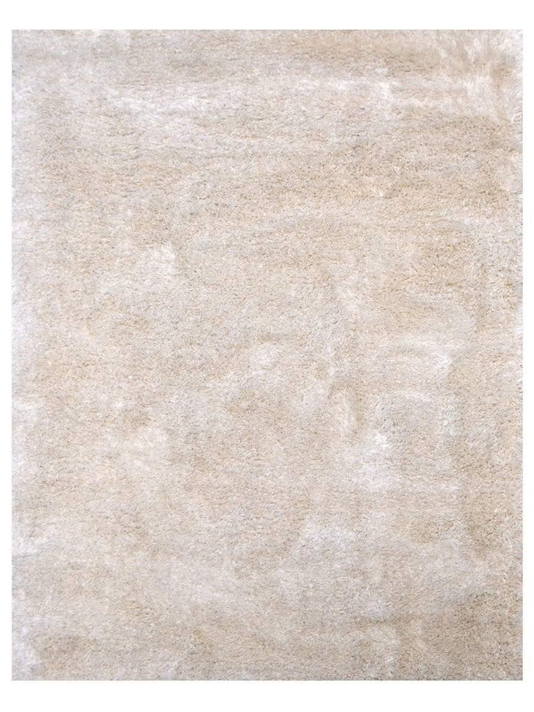 Silky Shag - White 520W Machine Made Area Rug - Jordans Flooring